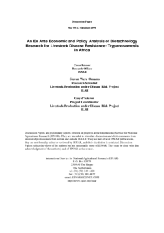 An ex ante economic and policy analysis of biotechnology