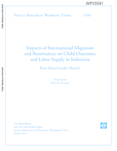 Impacts of international migration and remittances on child