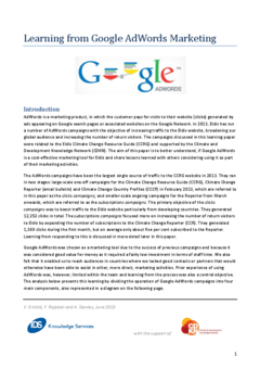 IDS Knowledge Services learning paper: Learning from Google