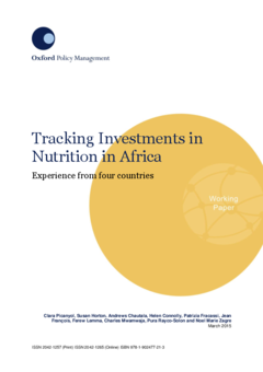 tracking investments in nutrition in africa eldis
